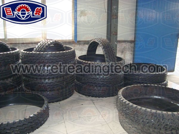 The ring tread produced by the ringtread curing press,